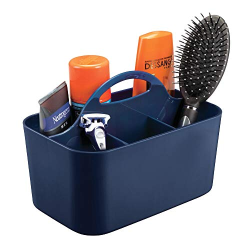 mDesign Plastic Portable Storage Organizer Caddy Tote