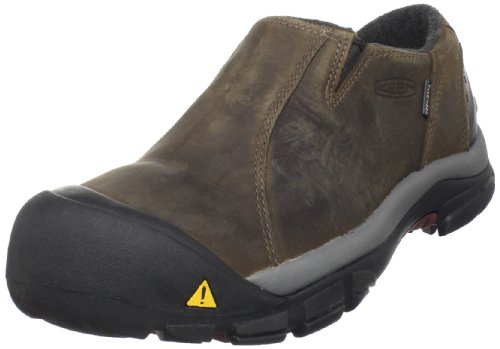 KEEN Men's Brixen Lo Waterproof Insulated Shoe,Slate Black/Madder Brown,11 M US from KEEN