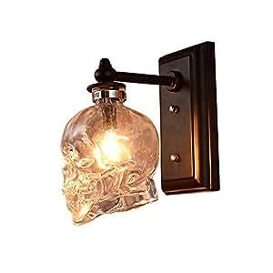 Amazon.com: WZHH - Lámpara de pared con forma de calavera de ...