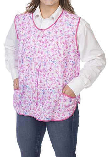 (Ezi Women's Cotton/Poly Cobbler Apron,Wildflower Pink,2X)