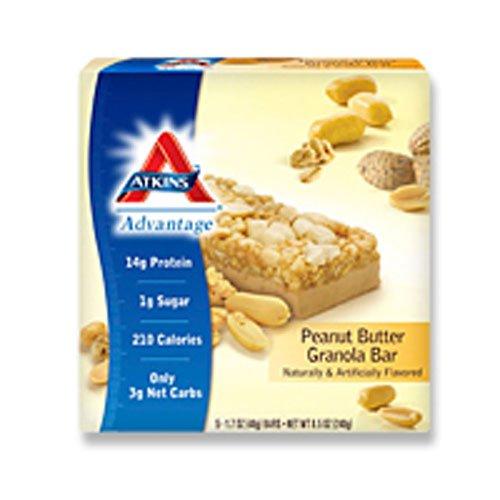 (Atkins Advantage Bar Peanut Butter Granola - 5 Bars)