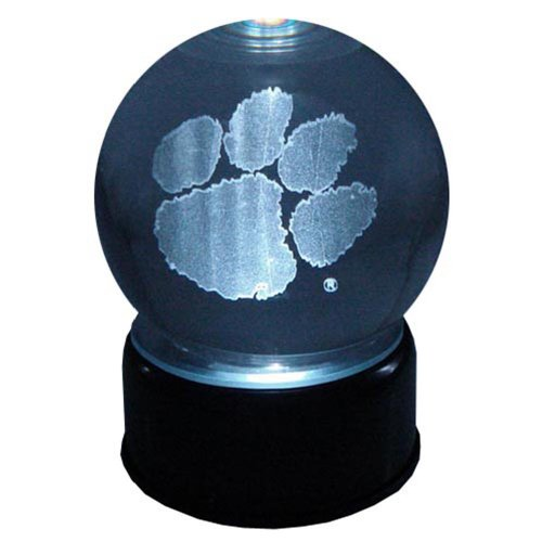 - Clemson Tigers Logo Laser-Etched Musical Lit Crystal ball