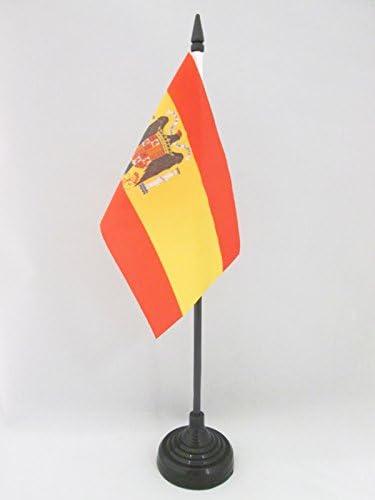 AZ FLAG Bandera de Mesa de ESPAÑA DE Franco 15x10cm - BANDERINA de DESPACHO FRANQUISTA ESPAÑOLA 10 x 15 cm: Amazon.es: Jardín