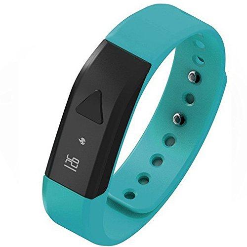 EFOSHM Fitness Tracker Wristband Watch Bracele Upgrated K5 Plus Wireless Activity and Sleep Monitor Pedometert for Men Women Boys Girls Ladies Man Iphone Sumsung HTC (BLUE)