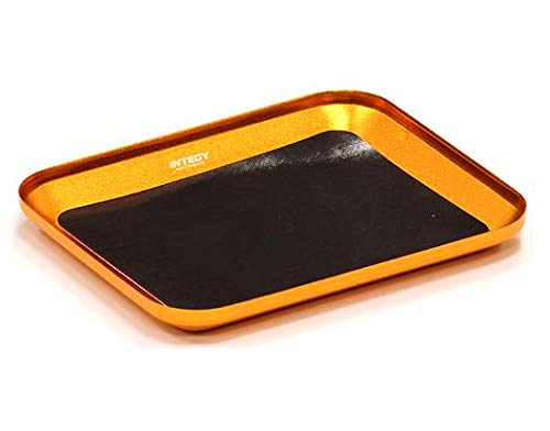 Integy RC Model Hop-ups C23830ORANGE Magnetic Parts Storage Tray 101x120mm for Hardware, Screws & Nuts