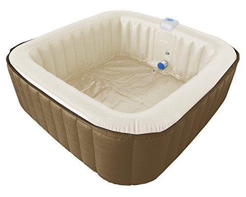 4-6 Pers. Jacuzzi Whirlpool G-Spa aufblasbar Square Spa ca. 1,89cm x 1,89cm GSpa Bubble Spa incl Heizung br