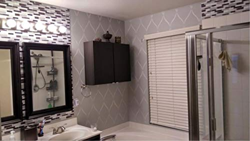 Tic Tac Tiles Peel and Stick Self Adhesive Removable Stick On Kitchen Backsplash Bathroom 3D Wall Sticker Wallpaper Tiles in Polito Design (Black&White, 10)