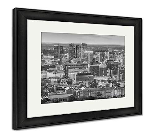 (Ashley Framed Prints Birmingham, Alabama, USA Downtown Skyline from Above at Dusk, Wall Art Home Decoration, Black/White, 26x30 (Frame Size), Black Frame, AG32675609)
