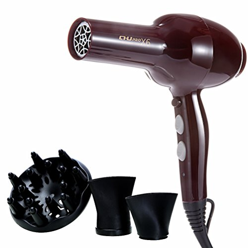 Professional Hair Dryer Ionic Blow Dryer with Diffuser Attachment Salon Effect Hair Dryers Hot Air Stylers - Beauty Hair Care Styling Tools Health Personal Care Hair Styling Hand Held 2300W from Mannice