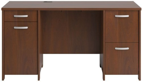 Bush Business Furniture PR76560K Envoy 58W Office Desk with 2 Pedestals, Hansen Cherry ()