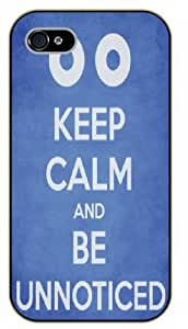 iPhone 5 / 5s Keep Calm and be unnoticed - black plastic case / Keep Calm, Motivation and Inspiration