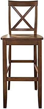 Crosley Furniture CF500430-CH X-Back Bar Stool Set of 2 , 30-inch, Classic Cherry