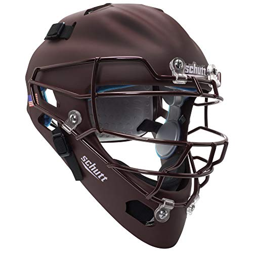 Schutt Sports Air MAXX Hockey-Style Catcher's Helmet with Steel Faceguard Matte Maroon ()