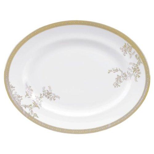 (Wedgwood Vera Wang Lace Platinum Oval Dish 39cm)