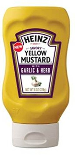 Garlic Mustard (Heinz Savory Yellow Mustard with Garlic and Herb, 8 Ounce (Pack of 6))