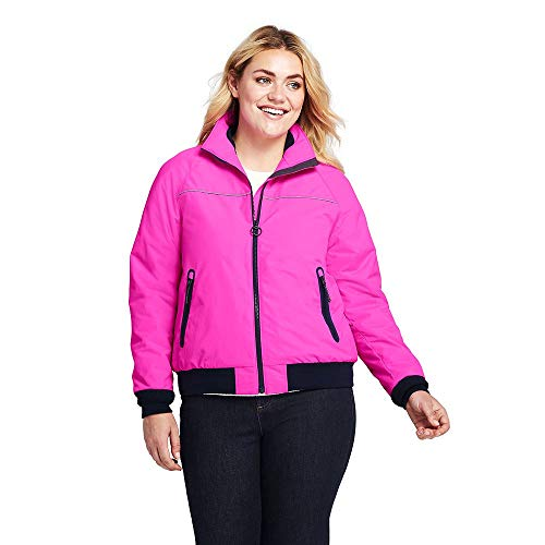 Lands' End Women's Plus Size Squall Jacket, 2X, Fusion Pink