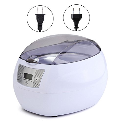 750ml 35W Timer Power Digital Ultrasonic Jewelry Glass Watch Disc Cleaner by SPK603