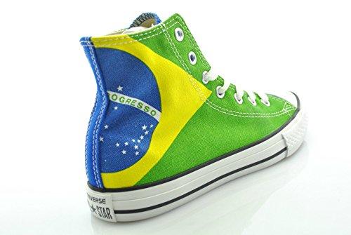 Converse Zapatos de La Bandera 343772C Chuck Taylor All Star Print Brasileña verde