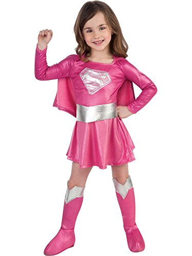 (Child's Pink Supergirl Child's Costume,)