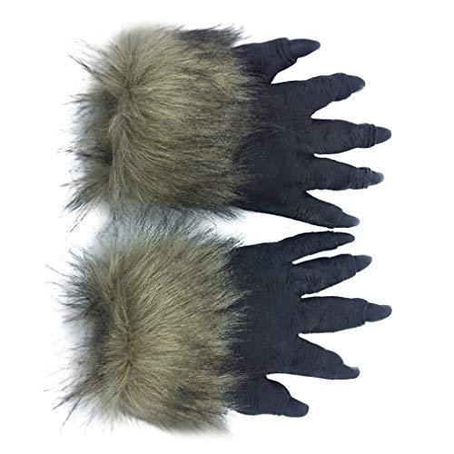 XILALU Horror Animal Head Mask, Halloween Creepy Tiger Wolf Furry Latex Headgear Party Cosplay Costume Props Toy -
