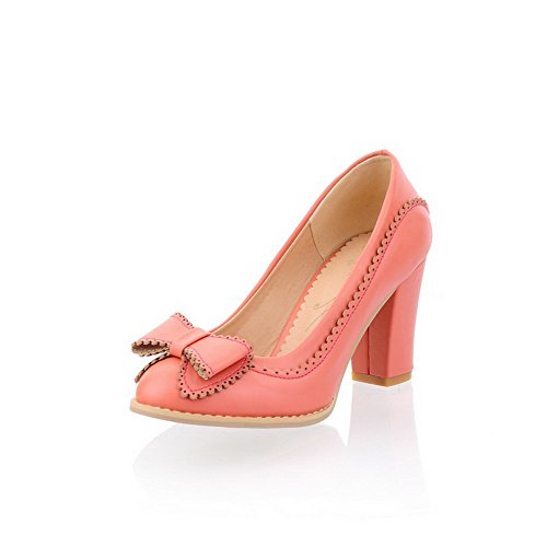 BalaMasa Womens Pull On High Heels Solid Pink Urethane Pumps Shoes APL00255-9 B(M) US ()