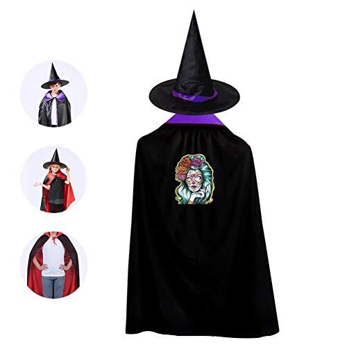 Sugar Lady Skull Kids Cloak Suit Halloween Vampire