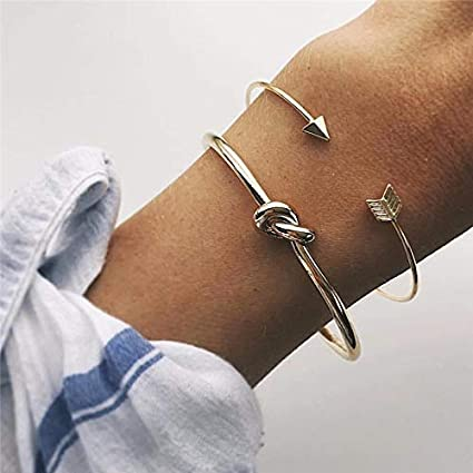 Tequila DS Bracelets /& Bangles 4pcs//Set Fashion Bohemia Leaf Knot Hand Cuff Link Chain Charm Bracelet Bangle for Women Gold Bracelets Female Jewelry