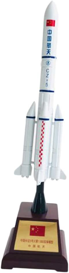 Prettyia 1:300 Chinese Spaceship CZ-5 Long March 5 Rocket Models with Stand 29cm
