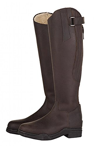 Riding Length 'Artic' Brown 39 Standard Euro Yard Leather Ladies Width Country HKM Horse 6 Boots UK 1q8BXwf