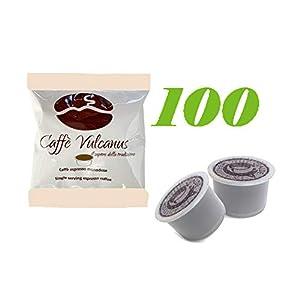Caffè Vulcanus - 100 capsule AROMA VERO, FIOR FIORE, LUI, MITACA compatibili - Miscela Ischia