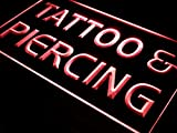 ADVPRO Tattoo Piercing Open Service LED Neon Sign Red 24'' x 16'' st4s64-i482-r