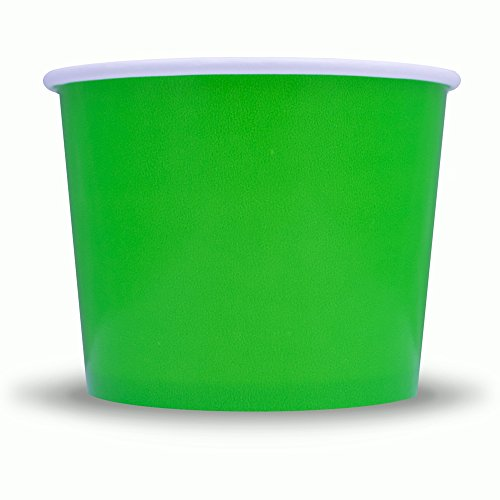 - Green Easter Paper Ice Cream Cups - 12 oz Disposable Dessert Bowls - Perfect For Your Yummy Foods! Many Colors & Sizes - Frozen Dessert Supplies - Fast Shipping! 50 Count