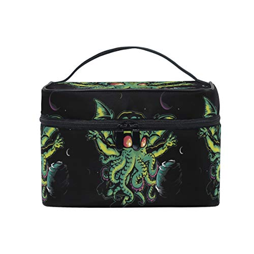 Devil Fly Octopus Women Makeup Bag Travel Cosmetic Bags Toiletry Train Case Beauty Pouch Organizer ()