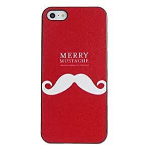 Merry Mustache Pattern PC Hard Case with Black Frame for iPhone 5/5S