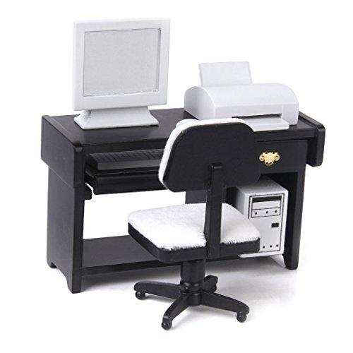 Casa de mu ecas muebles en miniatura impresora silla de for Silla para computadora precio