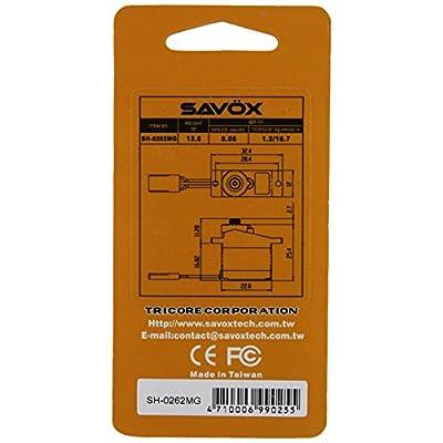 Savox SH-0262MG Super Speed Metal Gear Micro Digital Servo: Toys & Games