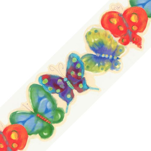 - Jelly Butterfly Bugs Prepasted Wallpaper Border Roll