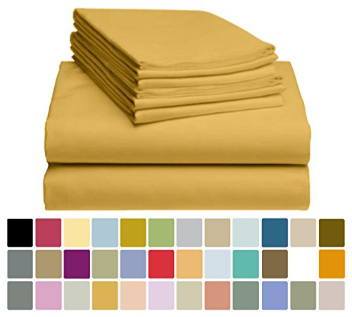 6 PC LuxClub Bamboo Sheet Set w/ 18 inch Deep Pockets - Eco