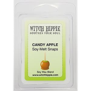 Candy Apple Scented Wickless Candle Tarts, 6 Natural Soy Wax Cubes By Witch Hippie