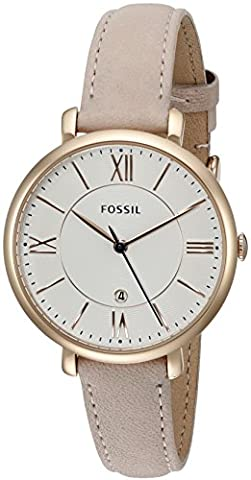 Fossil Women's ES3988 Jacqueline Blush Leather Strap Watch (Watch With Date)