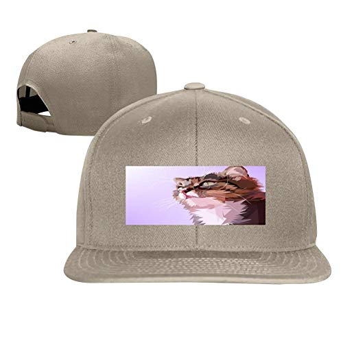 Cat's Eyes Fashion Men and Women General Truck Drivers Hip-Hop Baseball Caps Natural ()