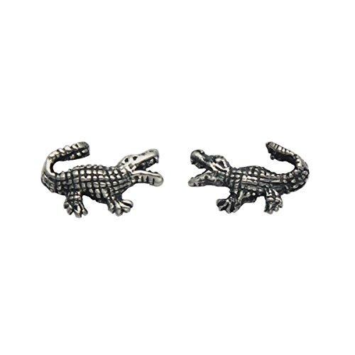 Small Sterling Silver Alligator Stud (Sterling Silver Alligator)