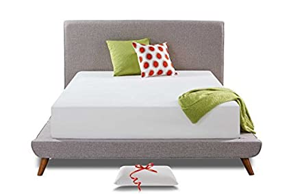 LS 12 Inch Memory Foam Mattress, Cool Bed in a Box - Bonus Pillow,