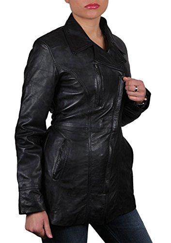 vendimia de motorista cuero para real Brandslock mujer chaqueta txBUIS0q