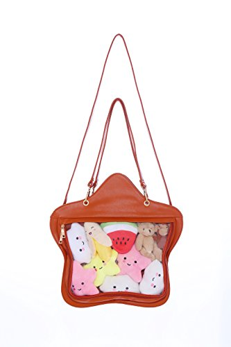 Orange Transparent Purse Handbag Kawaii Backpacks Lolita Leather Bag Crossbody Star Clear Candy Bags Ita wq4IO