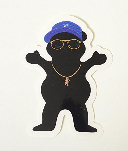 Grizzly Griptape sticker グリズリー グリップテープ ステッカー ブラック ブルー帽