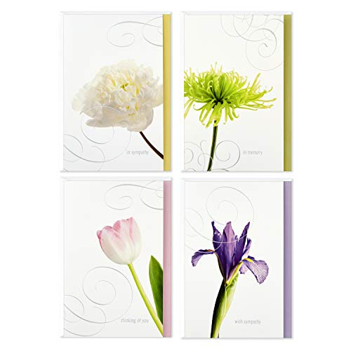 Hallmark Assorted Sympathy Cards (Flowers, 12 Cards and Envelopes) (Sympathy Assortment Card)