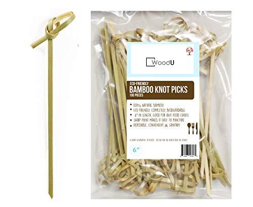 (Bamboo Knot Picks 100pc 6