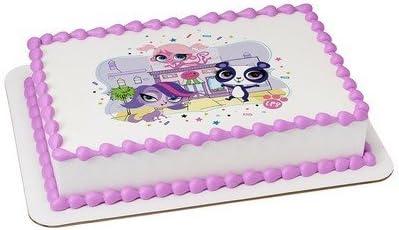 Astonishing Amazon Com Littlest Pet Shop Licensed Edible Cake Topper 58213 Funny Birthday Cards Online Alyptdamsfinfo
