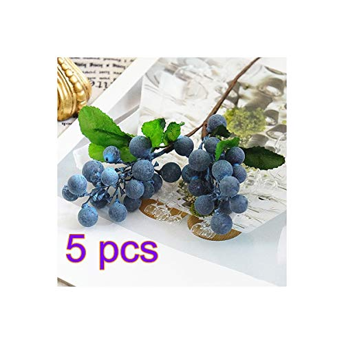 - RTWAY Artificial Blueberry Fruit,Holly Christmas Berries for Home Wedding Festival Holiday Christmas Tree Decorations,5 Pcs
